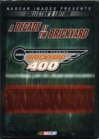 NASCAR  A Decade at the Brickyard DVD 2003 New Indianapolis Indy Speedway NIP Brickyard 400