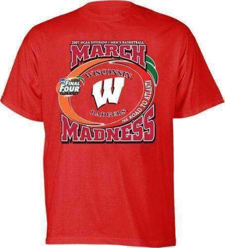 Wisconsin Badgers 2007 NCAA March Madness t-shirt by TL Sportswear size XL