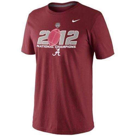 2012 Alabama Crimson Tide National Champions t-shirt by Nike size Large