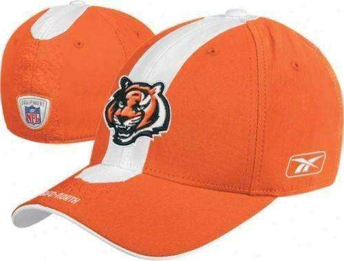11f1513f Cincinnati Bengals flexfit hat Reebok NFL new with tags OSFA NWT AFC Who Dey