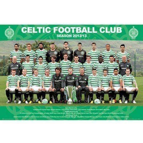 Celtic FC Scotland 2012 2013 Squad Poster new Scottish Premier League Hoops SPL
