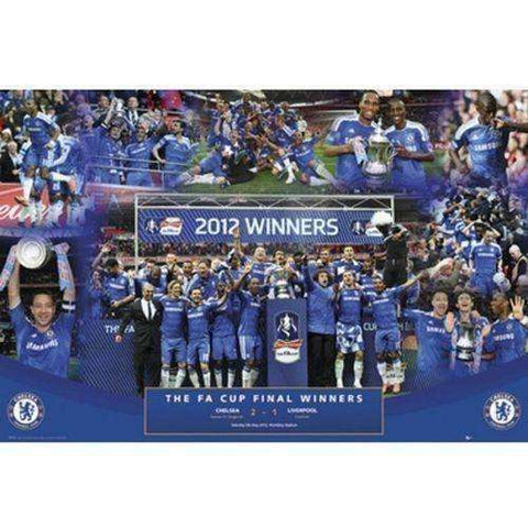 Chelsea FC 2012 FA Cup Winners Poster by GB Eye