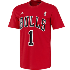Derrick Rose Chicago Bulls player t-shirt by Adidas NBA Da Bulls NWT