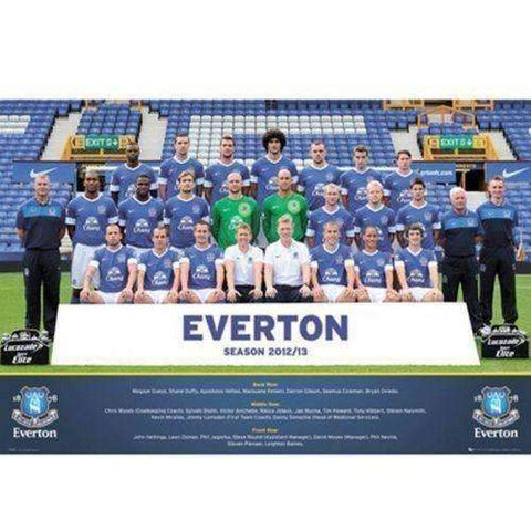 Everton FC 2012-2013 Team Squad Poster by GB Eye