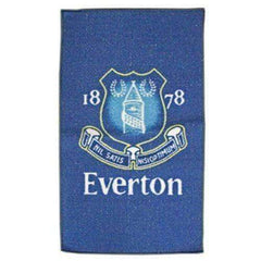 Everton FC Team Crest rug NWT English Premier League 80 cm x 50 cm Toffees EPL
