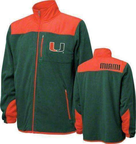 Miami Hurricanes Full Zip Jacket by Genuine Stuff size Large
