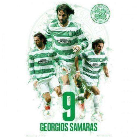 Celtic FC Georgios Samaras poster Hoops new Greece Scottish Premier League SPL
