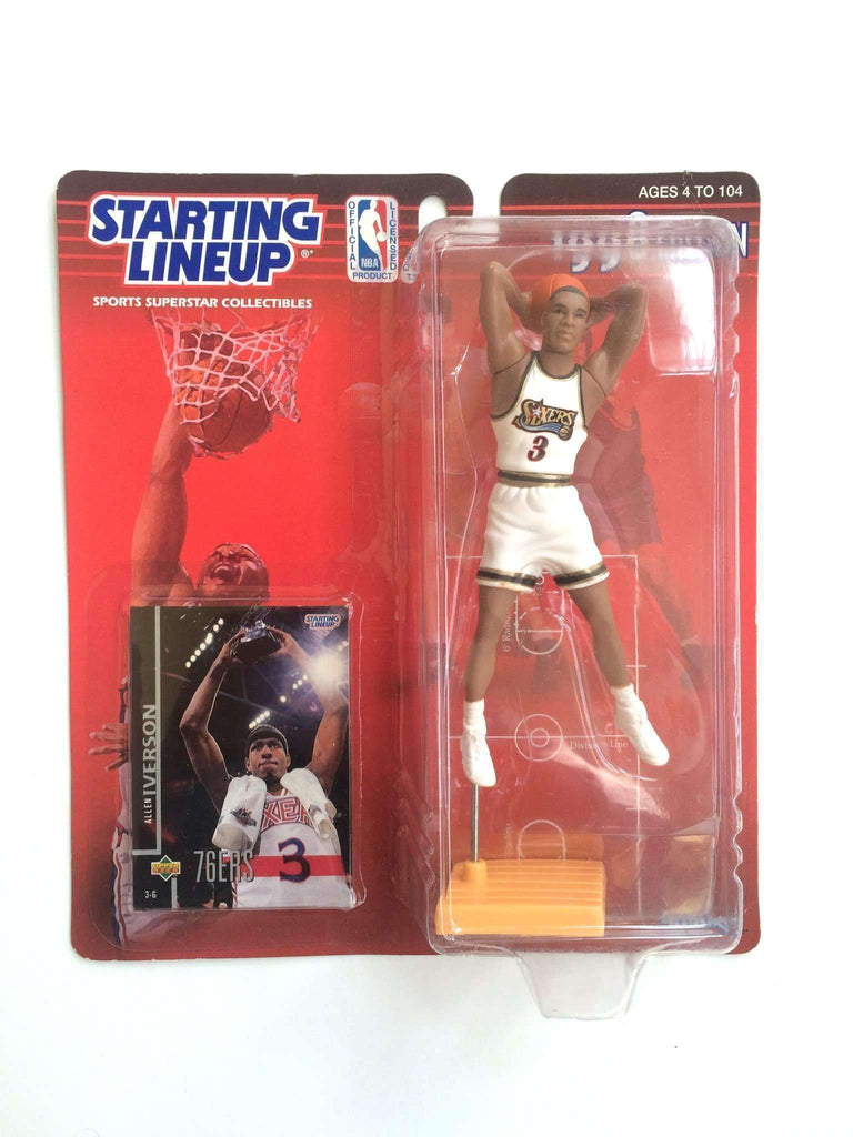 Allen Iverson Philadelphia 76ers 1998 Edition Starting Lineup NBA Action Figure NIB Sixers