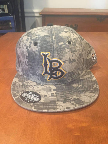 Long Beach State Dirtbags fitted Baseball camo hat by The Game