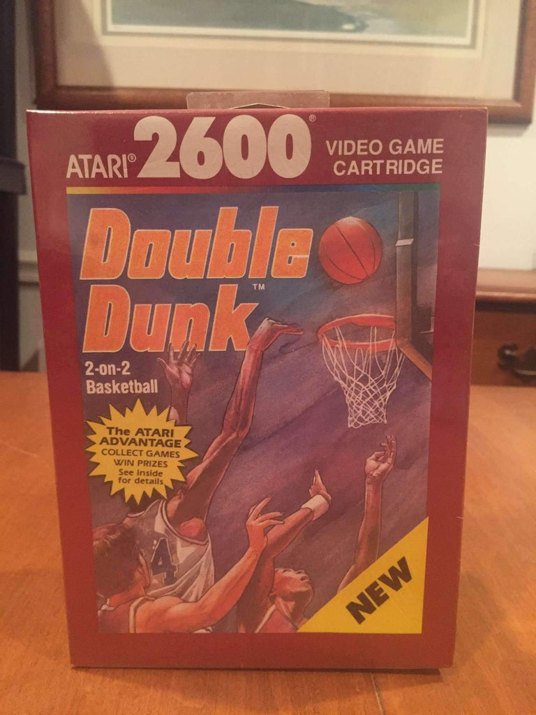 1989 Double Dunk Video Game by Atari 2600