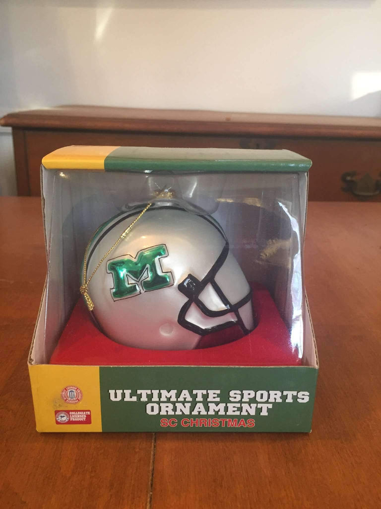 Marshall Thundering Herd Football Helmet Ornament by Scottish Christmas