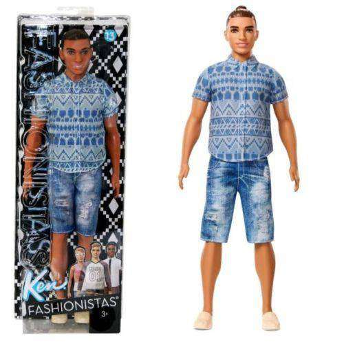 740b08e51e Barbie Ken Fashionistas 13 Distressed Denim Doll by Mattel