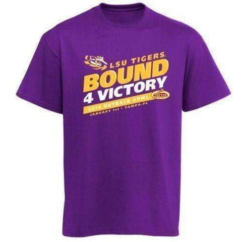 LSU Tigers 2014 Outback Bowl Bound 4 Victory T-shirt by Box Seat Clothing