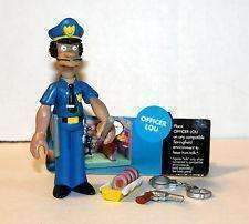 The Simpsons Officer Lou Action Figure Playmates Toys NIB Voice Activation