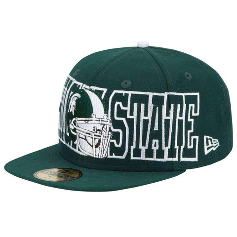 Michigan State Spartans Football Helmet New Era 59Fifty hat new with stickers