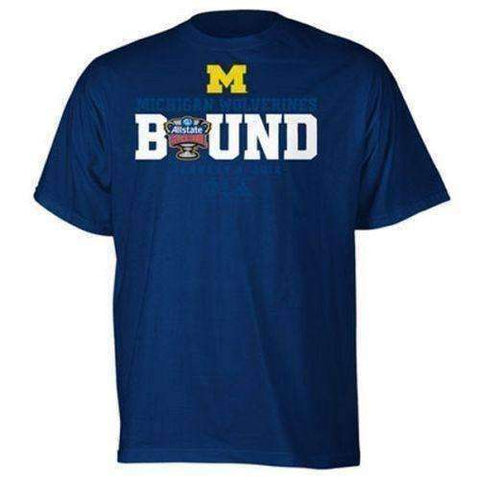 Michigan Wolverines 2012 BCS Sugar Bowl Bound t-shirt Adidas new NCAA Big Ten UM