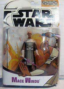 2003 Mace Windu Star Wars The Clone Wars Action Figure by Hasbro NIB