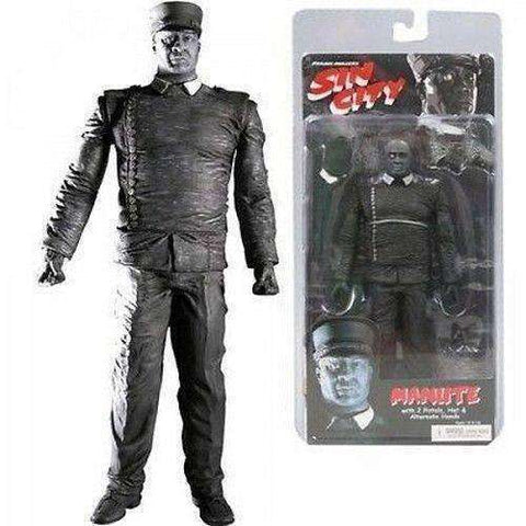 Sin City Black And White Manute with 2 Pistols, Hat, & Alternate Hands Action Figure by NECA