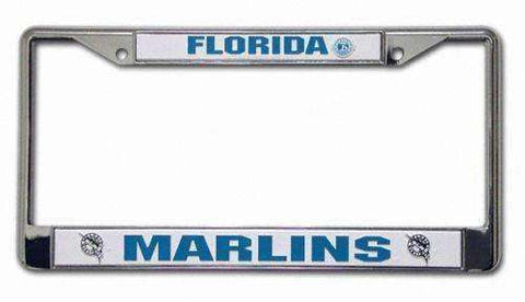 Florida Marlins chrome license plate frame by Rico Industries new in package auto tag MLB
