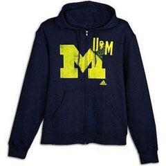 Michigan Wolverines Full Zip Sweatshirt by Adidas