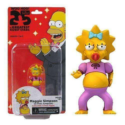 Maggie Simpson in Pink Jumpsuit mini figure 25 of the Greatest Guest Stars Action Figure NECA