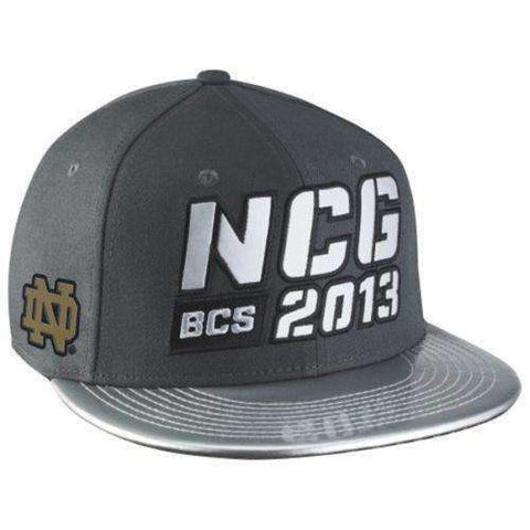 Notre Dame Fighting Irish 2013 National Championship Game Snapback Hat by Nike