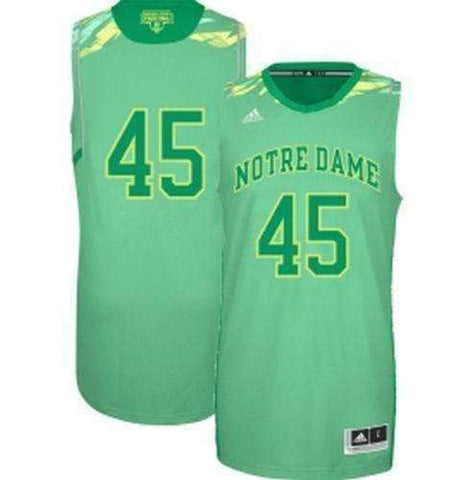 Jack Cooley Notre Dame Fighting Irish Hi Lighter Basketball Jersey by Adidas Size XL