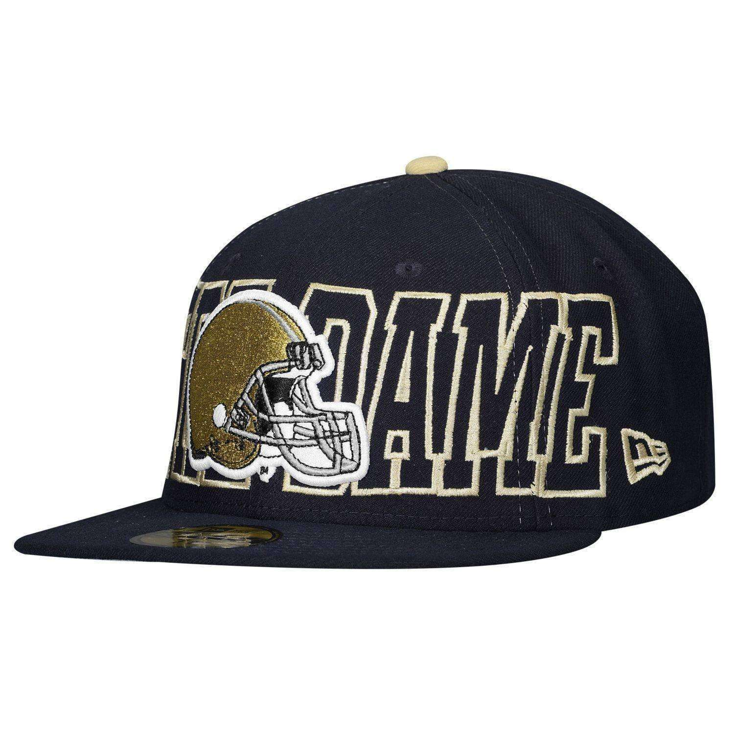 Notre Dame Fighting Irish Football Helmet 59Fifty Hat by New Era. Notre Dame  Fighting Irish Football Helmet 59Fifty Hat by New Era ade75b956c8