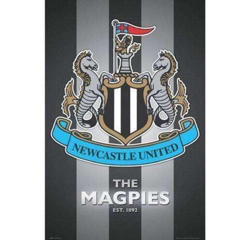 Newcastle United Poster Crest officially licensed product new The Magpies EPL