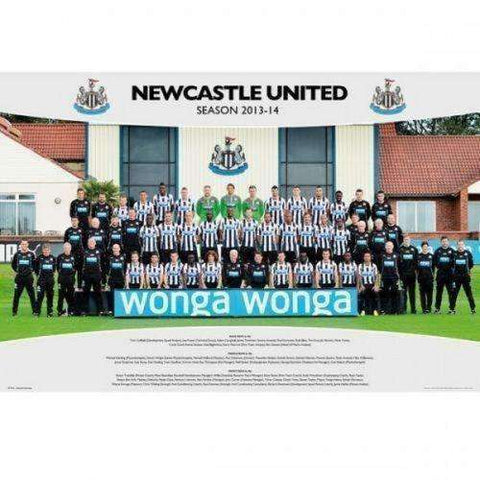 Newcastle United FC 2013/2014 Team Squad Poster New The Magpies EPL GB Eye