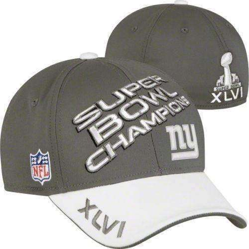 New York Giants Superbowl XLVI Champions flexfit hat by Reebok New NFL G-Men