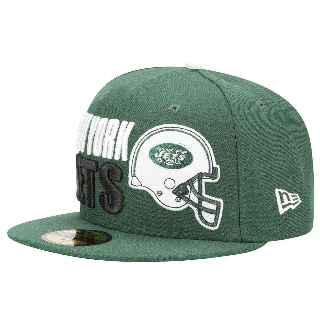 abe953713ca New York Jets Football Helmet New Era 59Fifty hat new with stickers NY AFC  7 1
