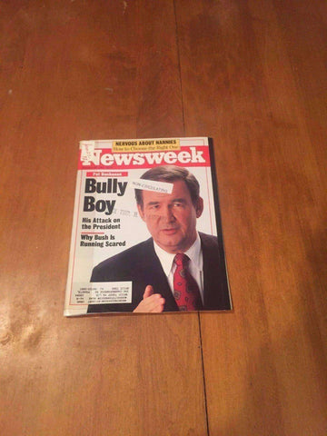 Newsweek Magazine Pat Buchanan Bully Boy January 27 1992 Black Head Coaches NFL