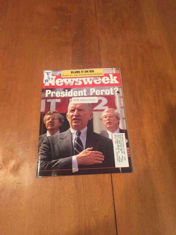Newsweek Magazine President Perot? June 15 1992 Gregory Hines