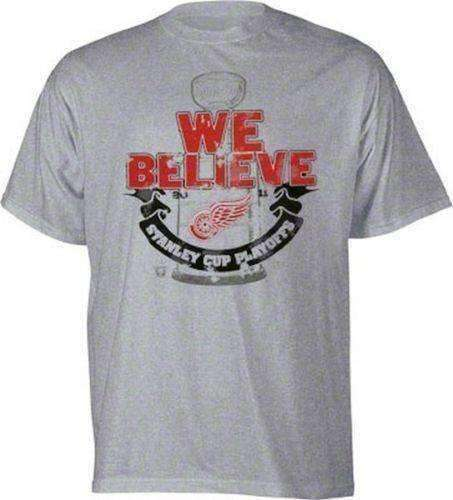 5a9a9ed8271 Detroit Red Wings Stanley Cup Playoffs t-shirt NWT Old Time Hockey NHL new