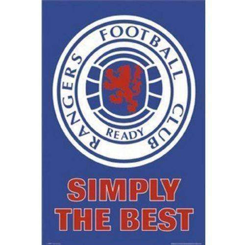 Rangers FC Scotland poster crest new in original packaging SPL Gers soccer