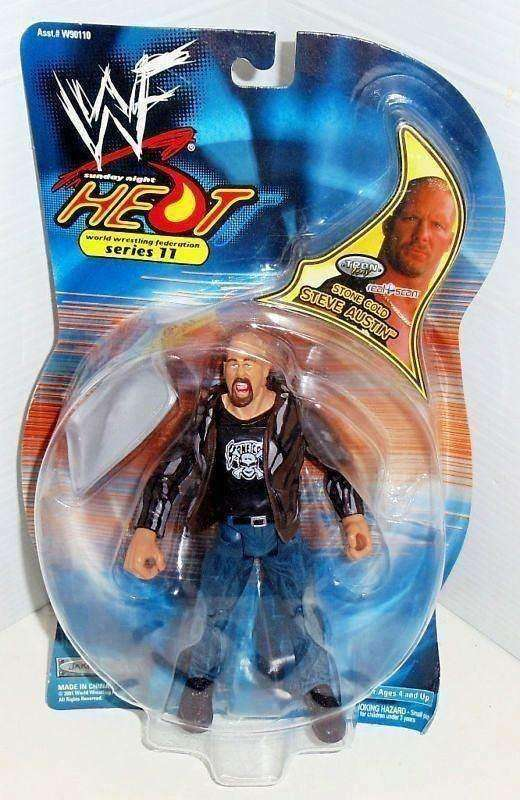 Stone Cold Steve Austin WWF Sunday Night Heat 11 action figure NIB Jakks Pacific New in Package WWE
