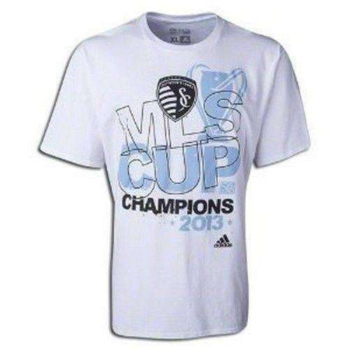Sporting Kansas City 2013 MLS Cup Champions t-shirt Adidas NWT MLS KC Soccer