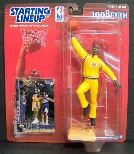 Shaquille O'Neal Los Angeles Lakers NBA Starting Lineup Action Figure NIB Kenner 1998 Shaq LA NIP