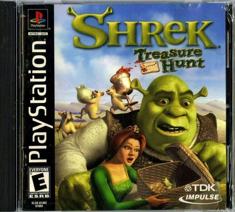 Shrek Treasure Hunt PlayStation 1 Video Game NIB TDK NIP 2002 PS1