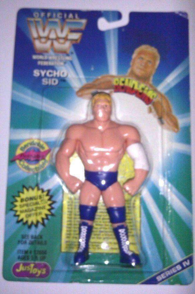 Sycho Sid WWF 1996 Bend-Ems Wrestling Action Figure NIB Just Toys new in package
