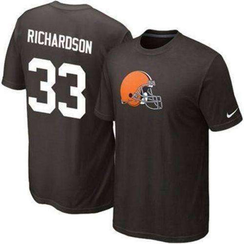 Trent Richardson Cleveland Browns Nike player t-shirt NWT NFL Alabama Roll Tide