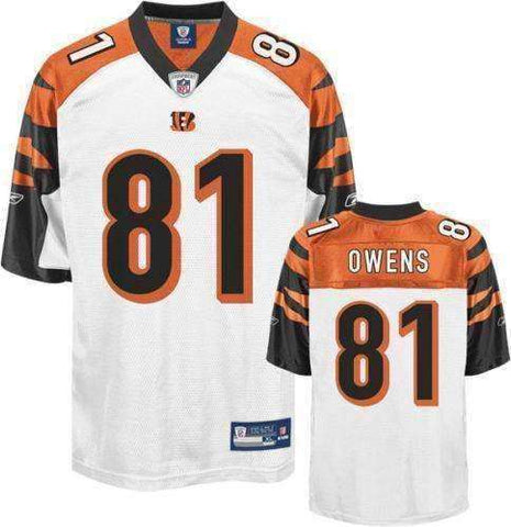 Terrell Owens Cincinnati Bengals Replica Jersey Reebok size Large new with tags NFL T.O. NWT Who Dey