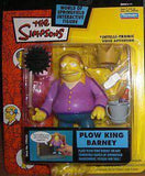 The Simpsons Plow King Barney World of Springfield Action Figure Playmates Barney Gumble NIP