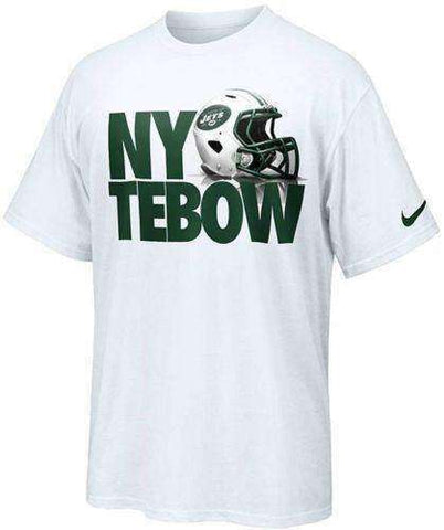 Tim Tebow New York Jets Helmet t-shirt by Nike Size Large