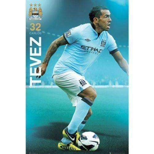 Manchester City FC Carlos Tevez poster English Premier League new Argentina
