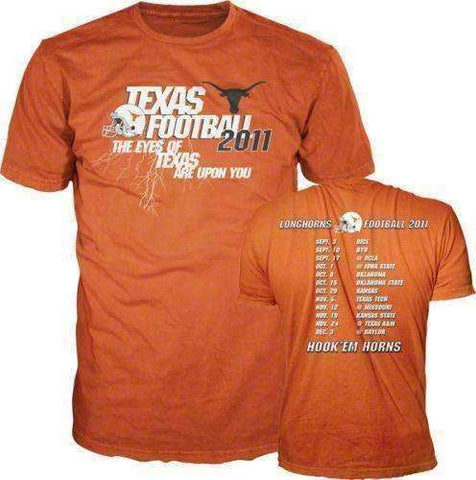 Texas Longhorns Football 2011 Season Schedule t-shirt