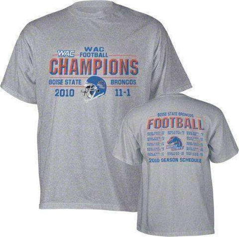 2010 Bosie State WAC Champions Season Schedule t-shirt by Step Ahead
