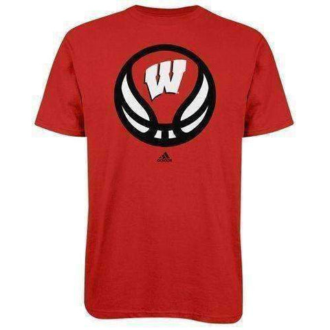 Wisconsin Badgers Basketball t-shirt by Adidas size Medium