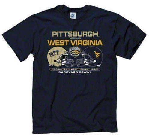 2011 Backyard Brawl t-shirt WVU Mountaineers PITT Panthers NWT New Agenda New with Tags